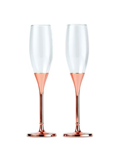 Pink (Rose Gold Rhinestone-Studded Champagne Glass Set)